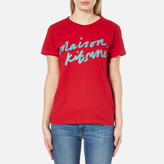 MAISON KITSUNÉ Women's Handwriting TShirt - Red