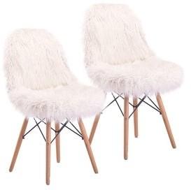 Carson Carrington Safvaston Mongolian Faux Fur Fuzzy Chair