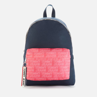 Tommy Jeans Women's Logo Tape Dome Backpack - Glamour Pink