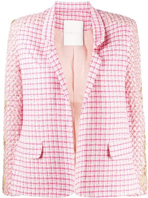 Loulou Embroidered Check Blazer
