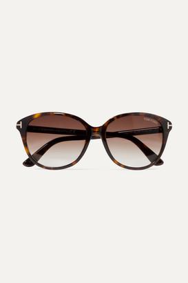 Tom Ford Cat-eye Tortoiseshell Acetate Sunglasses - Brown