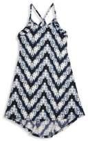 T2 Love Girl's Chevron Printed Dress