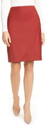 BOSS Vikena Wool Pencil Skirt