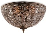 Bed Bath & Beyond Lead Crystal With Dark Bronze Flush Mount Ceiling Fixture