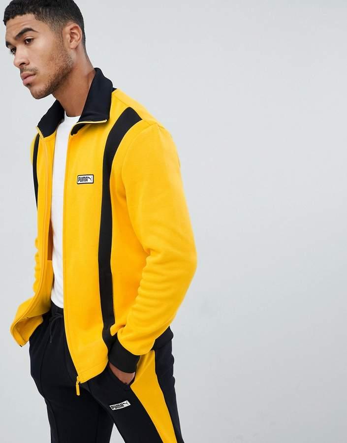 Puma Spezial track jacket in yellow 57722144