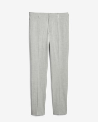 Express Extra Slim Gray Solid Performance Blend Suit Pant