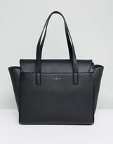 Pauls Boutique Black Structrued Winged Tote Bag