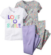 Carter's Smile 4-pc. Pajama Set - Baby Girls newborn-24m