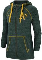 Nike Women's Green Oakland Athletics Gym Vintage Team Full-Zip Hoodie