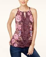 INC International Concepts Petite Floral-Print Halter Top, Created for Macy's