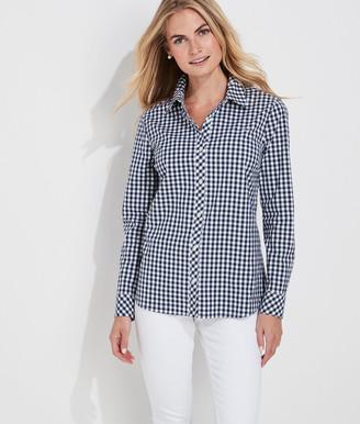 Vineyard Vines Beach Street Gingham Chilmark Classic Button-Down Shirt
