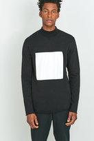 Soulland Ripped Black Turtleneck Sweatshirt