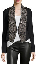 Haute Hippie Embellished Ponte Cropped Jacket, Black