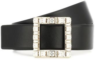 Roger Vivier Embellished leather belt