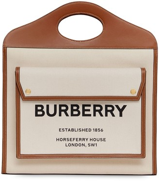 Burberry two-tone Pocket tote bag