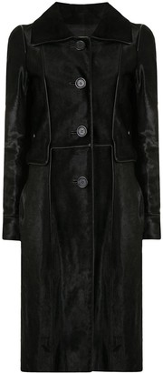 Céline Pre-Owned Pre-Owned Textured Knee-Length Coat