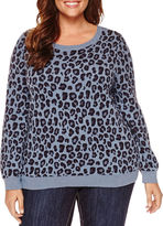 Liz Claiborne Long Sleeve Pullover Sweater-Plus