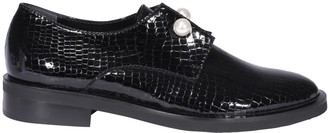 Coliac Pearl Embellished Embossed Loafers