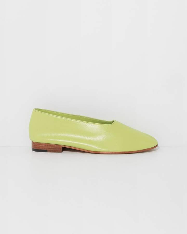 Martiniano Green Glove Flats