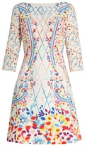 Peter Pilotto Abstract-print boat-neck cady mini dress