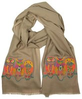 Janavi The Owl Motif Scarf