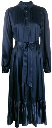 Temperley London tie waist shirt dress