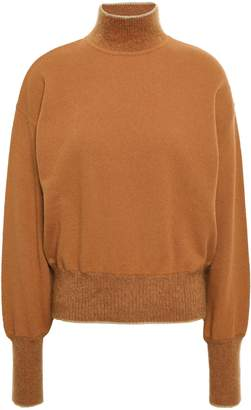 Alberta Ferretti Crystal-embellished Wool And Cashmere-blend Turtleneck Sweater