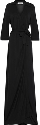 Diane von Furstenberg Abigail Stretch-jersey Maxi Wrap Dress
