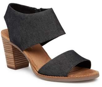 Toms Majorca Cutout Denim Sandal