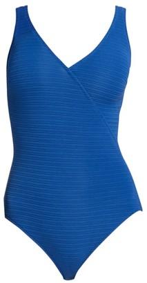 Gottex Swim Deep Dive Surplice One-Piece Swimsuit