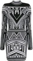 Balmain open back knitted dress
