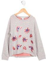 Little Marc Jacobs Girls' Embellished Long Sleeve Top