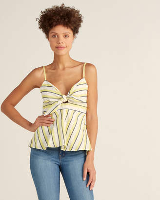 Cupcakes And Cashmere Citron Yellow Stipe Kerria Tank Top