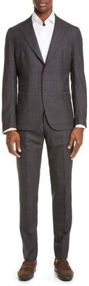 Eleventy Trim Fit Plaid Wool Suit