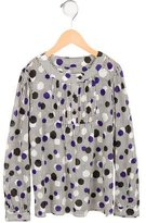 Milly Minis Girls' Polka Dot Gathered Top w/ Tags