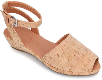 Gentle Souls By Kenneth Cole Lily Ankle Wrap Cork Sandal