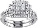 JCPenney MODERN BRIDE 1 1/5 CT. T.W. Diamond 14K White Gold Bridal Ring Set