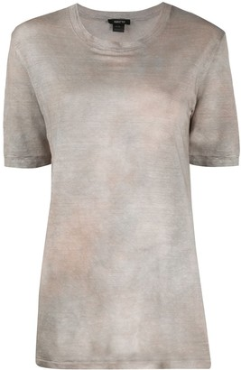 Avant Toi dyed effect T-shirt