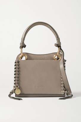 See by Chloe Tilda Mini Whipstiched Suede And Leather Tote - Taupe