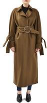 Women's Topshop Boutique Tie Sleeve Wool Coat