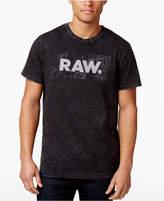 G Star RAW Men's Most Logo Acid-Wash Cotton T-Shirt