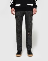 Off-White Slim Fit with Rips 5 Pockets