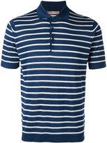 Cruciani embroidered polo shirt - men - Silk/Linen/Flax - 46
