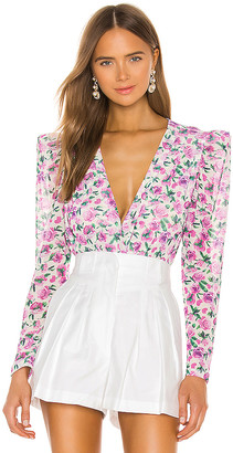 IORANE Floral Tulle Bodysuit