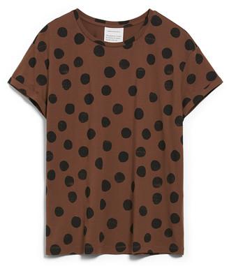 Armedangels Naalina Big Dots T-Shirt Cacao - s