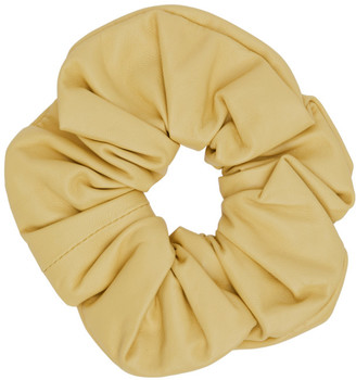 Jil Sander Yellow Leather Big Scrunchie