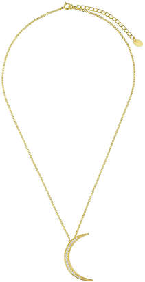 Sterling Forever 14K Plated Cz Pendant Necklace