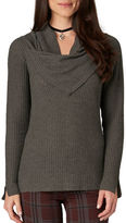 Democracy Ribbed Cowlneck Sweater