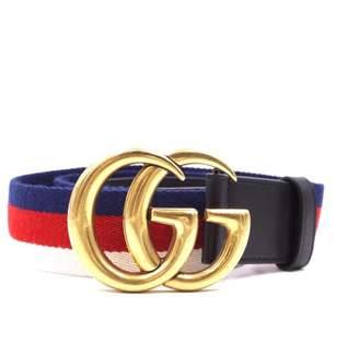 Gucci GG Buckle Multicolour Cloth Belts