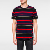 Paul Smith Men's Red Stripe Panelled-Cotton T-Shirt